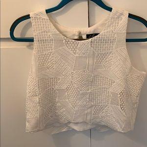 White Knit Crop Top | Boho Chic